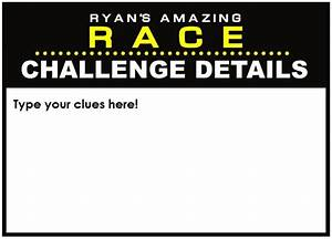 amazing race party supplies and invitations With the amazing race clue template