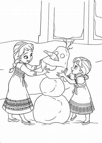 Frozen Colorear Dibujos Reino Hielo Elsa Anna
