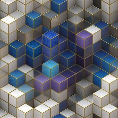 Square Cubic Cubes Shape Background