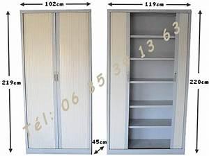 Armoire A Etagere : armoires m talliques 2 portes rideau avec tag res negoce land com ~ Teatrodelosmanantiales.com Idées de Décoration