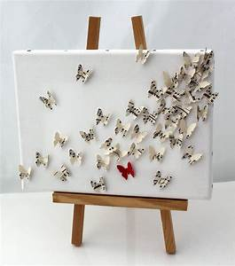 D butterfly wall art collage on canvas upcycled vintage