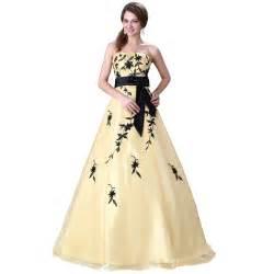 designer dress sale sale strapless appliques yellow wedding dress 2015 princess bridal gown fashion
