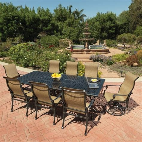 gensun outdoor patio furniture grand terrace sling