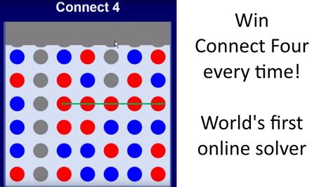 Win At Connect Four Every Time! The World's First Online