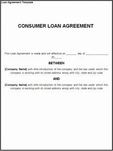 loan agreement template free formats excel word With easy loan without documents