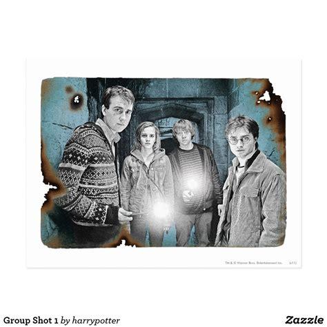 group shot  postcard zazzlecom harry potter