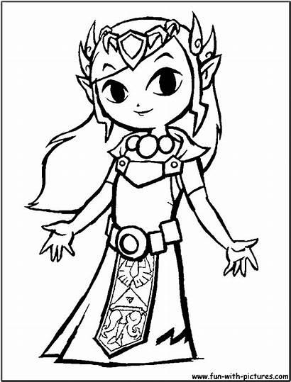 Coloring Zelda Link Pages Toon Popular