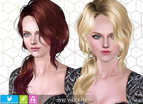vice city wavy side ponytail hairstyle  newsea