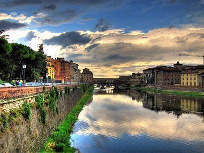 Florence Tuscany Italy Canal Clouds Firenze Famiglie