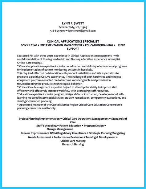 high quality critical care resume sles