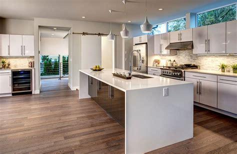 kitchen island waterfall beautiful waterfall kitchen islands countertop designs 2042