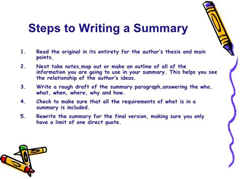 how to write a summary of a thesis 28 images sle