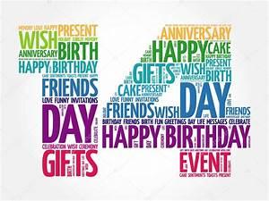 Happy 14th birthday word cloud — Stock Vector © dizanna ...  14th