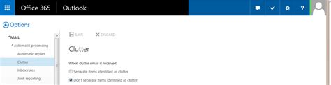 Office 365 Mail Going To Clutter by Using Clutter To Sort Low Priority Messages In Outlook Web