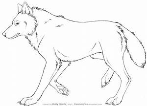 Free Wolf Lineart - Side view by Bear-hybrid on DeviantArt