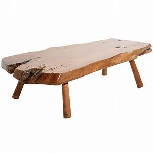 Live edge redwood coffee table with peg legs at 1stdibs for Live edge redwood coffee table