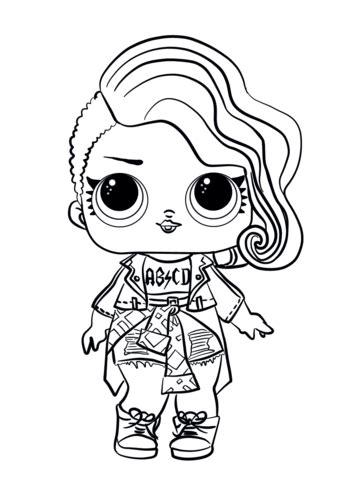 LOL Surprise Doll Rocker coloring page Free Printable