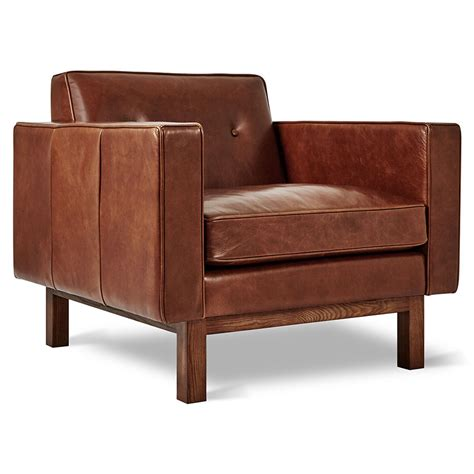 Fernsehsessel Modern Leder by Gus Modern Embassy Saddle Brown Leather Chair Eurway