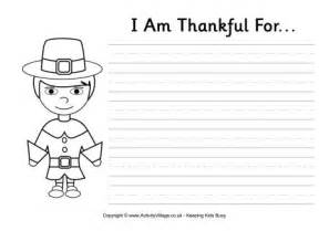 I AM Thankful Thanksgiving Worksheets