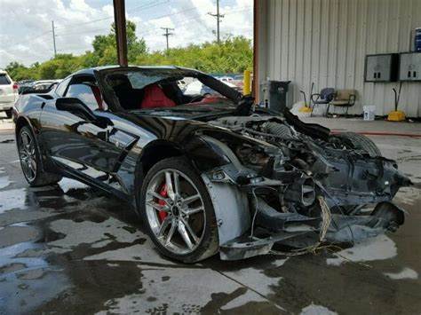heavy damage  chevrolet corvette stingray repairable
