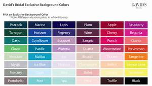 wedding color chart wedding tips and inspiration With wedding dress color chart