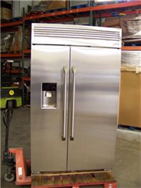 ge monogram  stainless refrigerator zispdkss fact warranty retail  ebay
