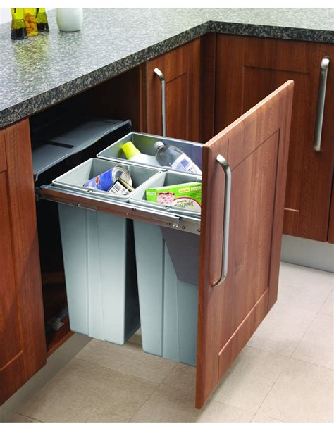 kitchen trash bin cabinet waste bins freestood east coast kitchens 6326