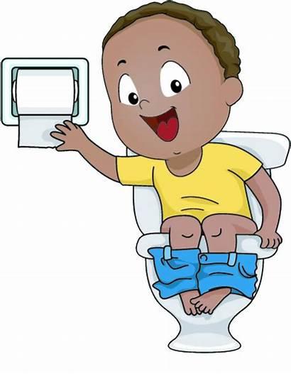 Potty Clipart Clip Toilet Cartoon Sitting Training