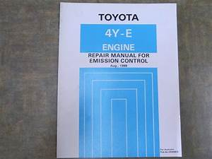 Toyota 4y E Engine Repair Manual For Emission Control