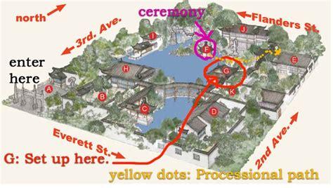 Garden Chinese by Lan Su Chinese Garden Treasure Map Wedding Venue Maps