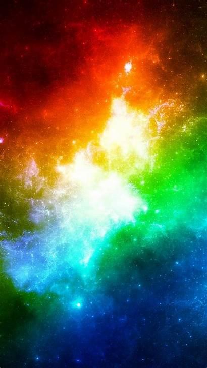 Iphone Rainbow Galaxy Wallpapers