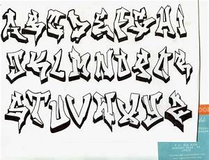 Graffiti Alphabet Block Style Lowercase - Graffiti Art
