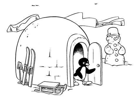 Pingu Kleurplaat by N 20 Kleurplaten Pingu