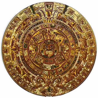 Aztec Calendar Mayan Symbols Ancient Version Designs