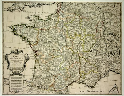 Poster Carte De Vintage by Affiche Carte De Dress 233 E Pour Le Roy 1721 Guillaume