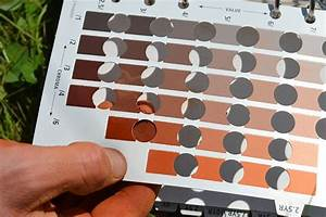 Munsell Soil Color Chart A Geologist Using A Munsell Soil Color Chart On A Wine