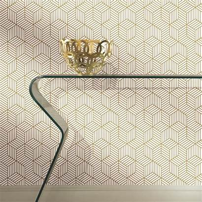 Peel Stick Gold Roommates Hexagon Stripped Pattern