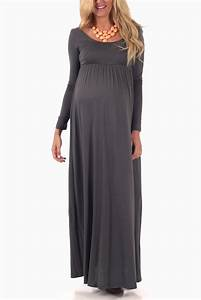 Maternity long sleeve maxi dress gown and dress gallery for Maternity maxi dress for wedding