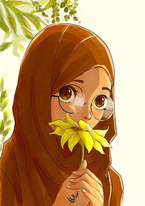 images  hijab animasi  pinterest drawings