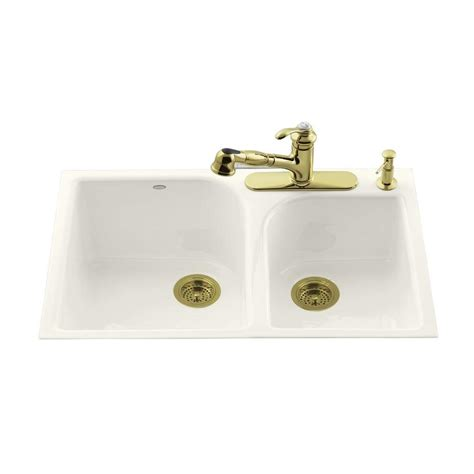 Kohler Executive Chef Sink Biscuit by Kohler Executive Chef Tile In Cast Iron 33 In 4