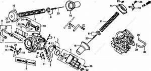 Honda Motorcycle 1993 Oem Parts Diagram For Carburetor