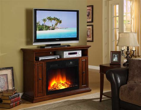 Homelegance Diamond Tv Stand With Electric Fireplace 8103