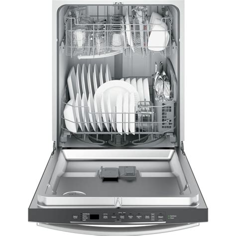 gdthmjes ge hybrid stainless steel interior dishwasher  hidden controls