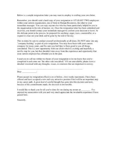 63 Excelent Resignation Letter Due To Career Growth – resignation letter