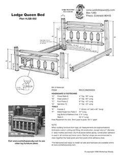 log bed frame plans   build  log bed  log bed