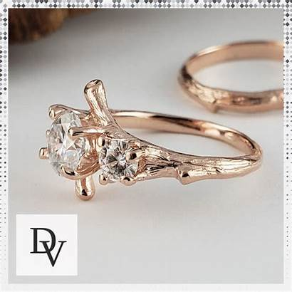 Moissanite Ring Engagement Branch Three