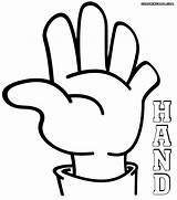 Hands Coloring Helping Partir Guardado Template sketch template