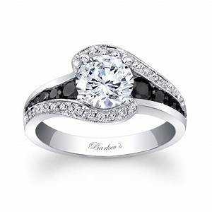 Barkev39s modern black diamond engagement ring 7898lbkw for Black and diamond wedding rings