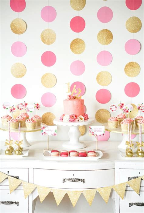pink and gold birthday themes kara s ideas pink gold half birthday kara