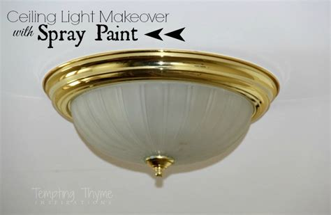 updating even more brass light fixtures using spray paint